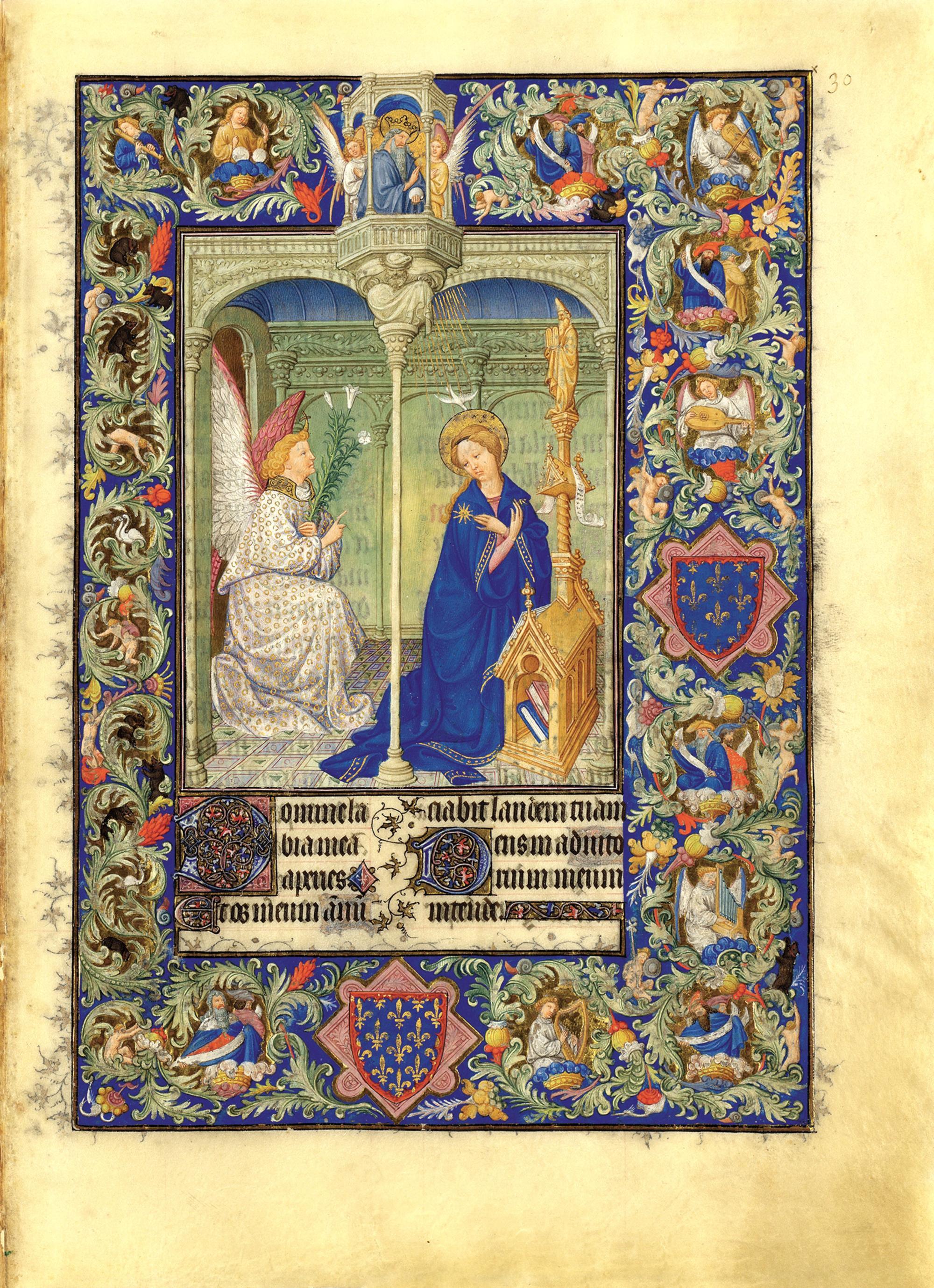 Enluminures d 39 acanthes et d 39 ancolies - Le salon du manuscrit ...